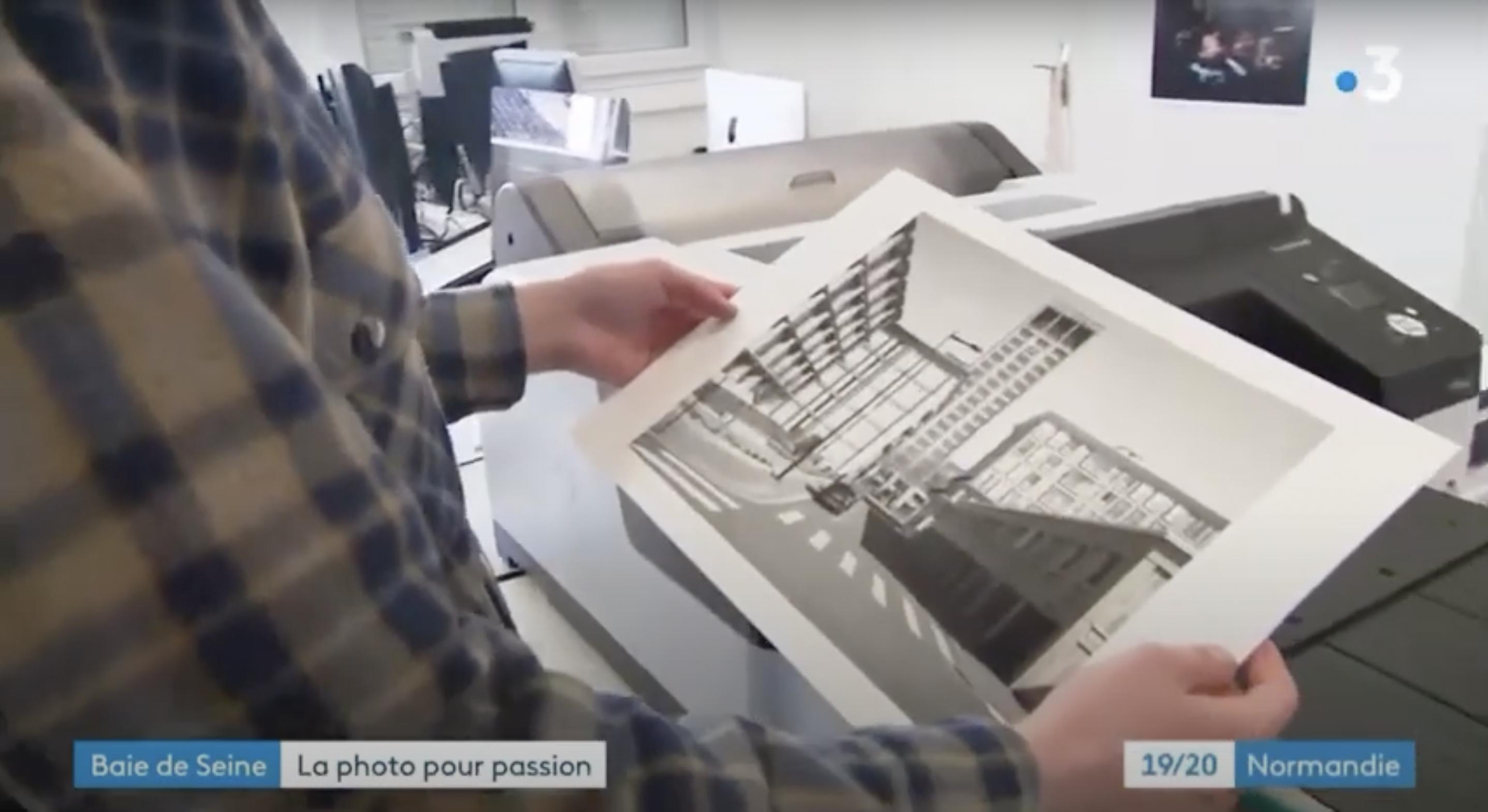 Extrait du reportage France 3 Normandie concernant les 4 élèves de BTS Photo